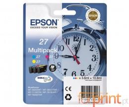 3 Cartuchos de tinta Originales, Epson T2705 Colores 3.6ml
