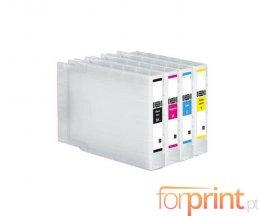 4 Cartuchos de Tinta Compatibles, Epson T9081-T9084 Negro 100ml + Colores ~ 5.000 / 4.000 Paginas