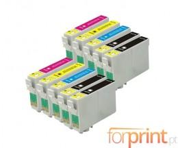 10 Cartuchos de tinta Compatibles, Epson T2991-T2994 Negro 17ml + Cor 13ml
