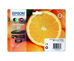 5 Cartuchos de tinta Originales, Epson T3337 Negro + Cor