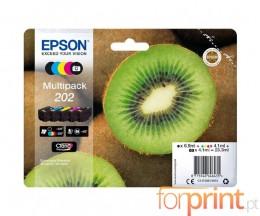5 Cartuchos de tinta Originales, Epson T02E7 Negro + Colores