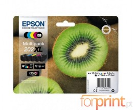 5 Cartuchos de tinta Originales, Epson T02G7 XL Negro + Colores
