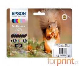 6 Cartuchos de tinta Originales, Epson T3788 C / M / Y / PM / PC / BK