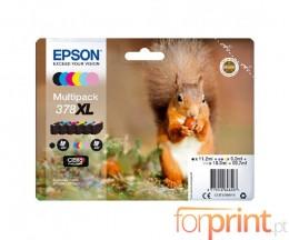6 Cartuchos de tinta Originales, Epson T3798 C / M / Y / PM / PC / BK