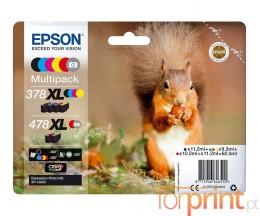 6 Cartuchos de tinta Originales, Epson T378X + T478X C / M / Y / R / G / BK