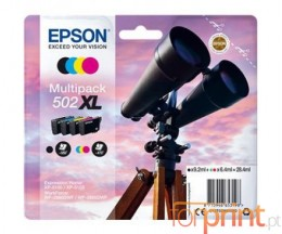 4 Cartuchos de tinta Originales, Epson T02W6 / 502XL Negro + Colores