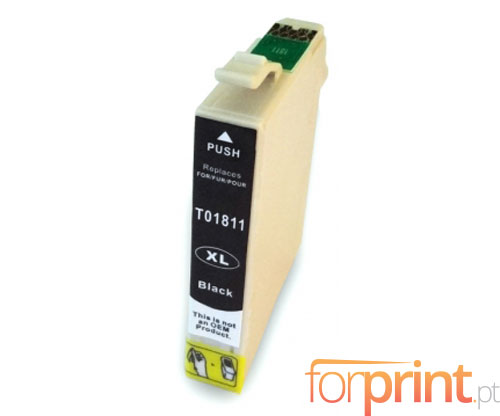 Cartucho de Tinta Compatible Epson T1801 / T1811 Negro 17ml