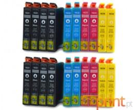 20 Cartuchos de tinta Compatibles, Epson T1631-T1634 Negro 17ml + Colores 11.6ml