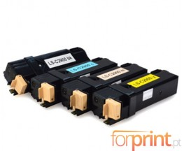 4 Cartuchos de Toneres Compatibles, Epson S050630 Negro + S05062X Colores ~ 3.000 / 2.500 Paginas