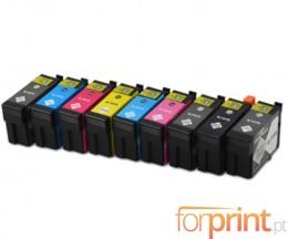 9 Cartuchos de tinta Compatibles, Epson T1571-T1579 Negro 29.5ml + Colores 29.5ml