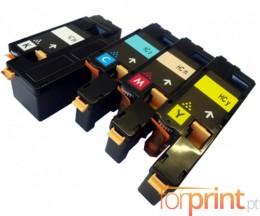 4 Cartuchos de Toneres Compatibles, Epson S05061X Negro + Colores ~ 2.000 / 1.400 Paginas