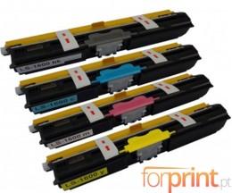 4 Cartuchos de Toneres Compatibles, Epson S05055X Negro + Colores ~ 2.700 Paginas