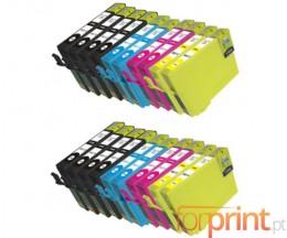 20 Cartuchos de tinta Compatibles, Epson T1281-T1284 Negro 13ml + Colores 6.6ml