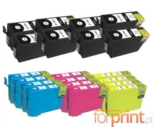 20 Cartuchos de tinta Compatibles, Epson T1301-T1304 Negro 33ml + Colores 14ml