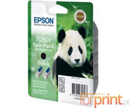 2 Cartuchos de tinta Originales, Epson T0501 Negro 15ml