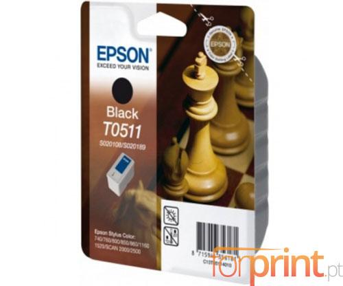 Cartucho de Tinta Original Epson T0511 Negro 24ml
