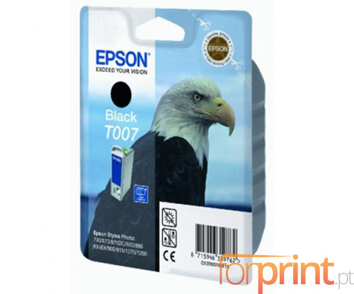 Cartucho de Tinta Original Epson T007 Negro 16ml