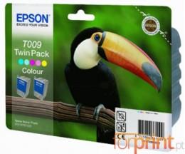 2 Cartuchos de tinta Originales, Epson T009 Colores 66ml