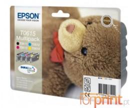 4 Cartuchos de tinta Originales, Epson T0611-T0614 8ml
