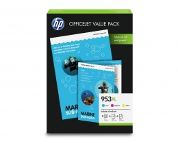 3 Cartuchos de Tinta Original, HP 953 XL Colores 20ml
