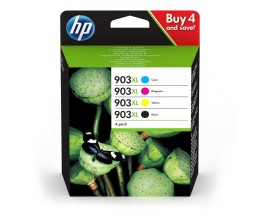 4 Cartuchos de Tinta Original, HP 903 XL Negro 21.5ml + Colores 9.5ml ~ 825 Paginas
