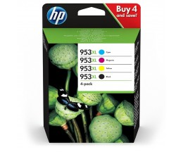 4 Cartuchos de Tinta Original, HP 953 XL Negro 43ml + Colores 20ml