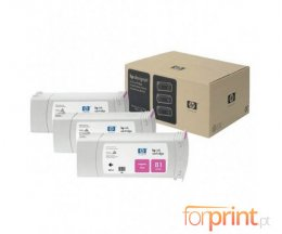 3 Cartuchos de tinta Originales, HP 81 Magenta 680ml