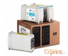 3 Cartuchos de tinta Originales, HP 90 Cyan 400ml