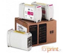 3 Cartuchos de tinta Originales, HP 90 Magenta 400ml