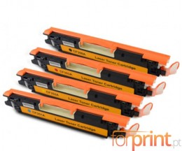 4 Cartuchos de Toneres Compatibles, Hp 130A Negro + Colores ~ 1.300 / 1.000 Paginas