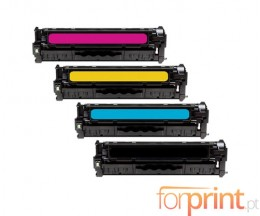 4 Cartuchos de Toner Compatibles, HP 205A Negro + Colores ~ 1.100 / 900 Paginas