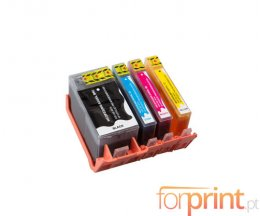 4 Cartuchos de Tinta Compatibles, HP 934 XL Negro + HP 935 XL Colores ~ 1.000 / 825 Paginas