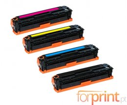 4 Cartuchos de Toneres Compatibles, HP 201X Negro + Colores ~ 2.800 / 2.300 Paginas