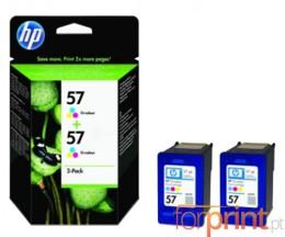 2 Cartuchos de tinta Originales, HP 57 Colores 17ml ~ 500 Paginas