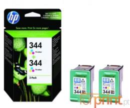 2 Cartuchos de tinta Originales, HP 344 Colores 14ml