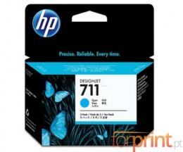 3 Cartuchos de tinta Originales, HP 711 Cyan 29ml