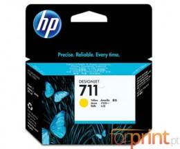 3 Cartuchos de tinta Originales, HP 711 Amarillo 29ml