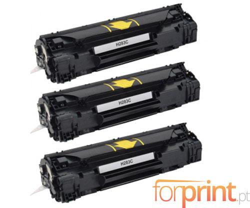 3 Cartuchos de Toneres Compatibles, HP 83A Negro ~ 1.500 Paginas