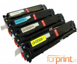 4 Cartuchos de Toneres Compatibles, HP 128A Negro + Colores ~ 2.200 / 1.400 Pages