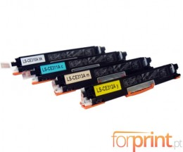 4 Cartuchos de Toneres Compatibles, HP 126A Negro + Colores ~ 1.200 / 1.000 Pages