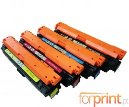 4 Cartuchos de Toneres Compatibles, HP 307A Negro + Colores ~ 7.000 / 7.300