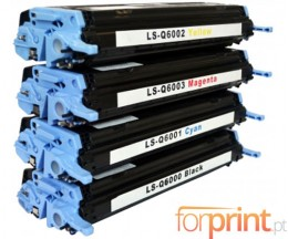 4 Cartuchos de Toneres Compatibles, HP 124A Negro + Colores ~ 2.500 / 2.000 Paginas