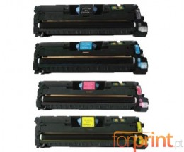 4 Cartuchos de Toneres Compatibles, HP 121A / HP 122A Negro + Colores ~ 5.000 / 4.000 Paginas