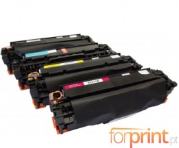 4 Cartuchos de Toneres Compatibles, HP 304A Negro + Colores ~ 4.400 / 2.800 Paginas