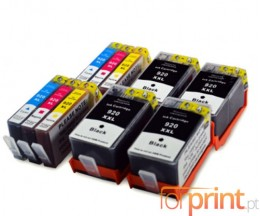 10 Cartuchos de tinta Compatibles, HP 920 XL Negro 53ml + Colores 14.6ml