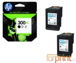 2 Cartuchos de tinta Originales, HP 300 XL Negro 12ml