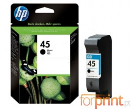 Cartucho de Tinta Original HP 45 Negro 42ml ~ 930 Paginas