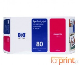 Cartucho de Tinta Original HP 80 Magenta 175ml ~ 2.200 Paginas