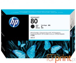 Cartucho de Tinta Original HP 80 Negro 350ml ~ 4.400 Paginas