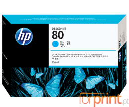 Cartucho de Tinta Original HP 80 Cyan 350ml ~ 4.400 Paginas